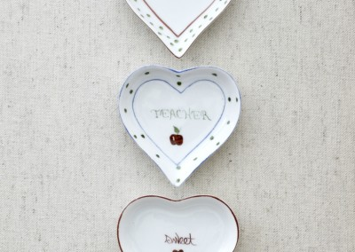 Hand-painted Heart Dishes